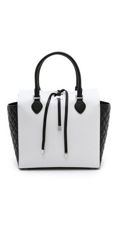 Michael Kors Collection Tote with Quilted Gusset