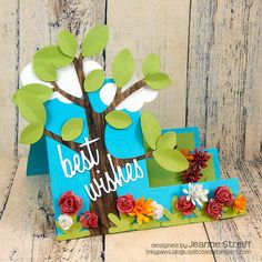 Sizzix Tutorial | Best Wishes Step-Ups Card by Jeanne Streiff