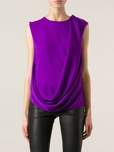 Lanvin Sleeveless Draped Top - Donne Concept Store - Farfetch.com