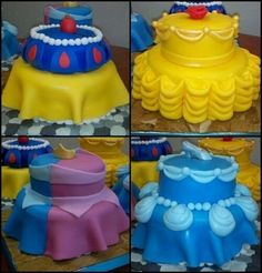Disney princess cakes