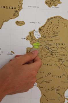 Oh my goodness. A Scratch off World Map, that you scratch off the colors of the places you have been. LOVE IT. $34