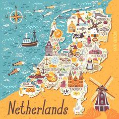 Netherlands Map Netherlands Travel Para obtener información, acceda a nuestro sitio https://storelatina.com/netherlands/travelling #photography #foodNetherlands #Netherlandstravel #travelNetherlands