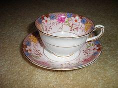 Taylor & Kent Longton Bone China Tea Cup and Saucer Made in England