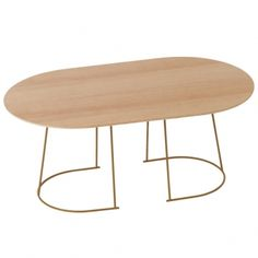 Airy coffee table, medium, Oregon pine