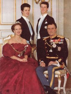 Queen Margrethe of Denmark and family.