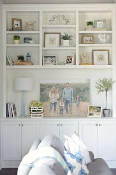 Living Room Shelves Ideas Built Ins Bookshelf Styling 68 Super Ideas Family Friendly Living Room, Room Design, Living Room Decor, Bookshelf Styling, Interior, Room Remodeling, Living Room Built Ins, Family Room, Room