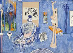 Brett Whiteley – My Armchair. 1976 Oil on canvas 206.5 x 283.5 cm