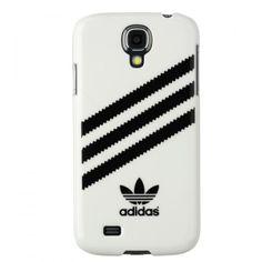 Superbe housse Samsung galaxy s4 blanche au bandes noir...