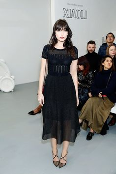 Daisy Lowe - Xiao Li Fall 2016 Show Front Row - February 23, 2016 #LFW