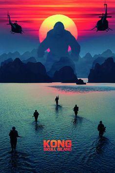 Watch the new trailer for Kong: Skull Island, the King Kong reboot starring Brie Larson, Tom Hiddleston, Samuel L. Jackson, and John Goodman. Kong Skull Island Poster, Kong Skull Island Movies, King Kong Skull Island, Kong Island Movie, Hindi Movies, New Movies, Movies To Watch, Good Movies, Movies Online