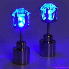 Blå Led øreringe | Smykkeskrinet