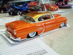 Good custom paint! Lowrider Model Cars, Diecast Model Cars, Chevy Models, Plastic Model Cars, Model Cars Kits, Car Humor, Model Building, Hot Cars, Custom Cars
