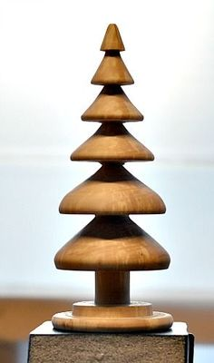 Finished Spalted Christmas Tree