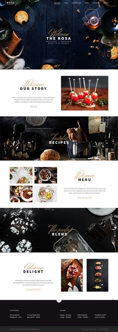 Food, restaurant, layout, concept, web design in Chocolate