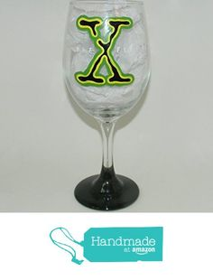 The X-Files wine glass from Custom Creations by Danielle LLC https://www.amazon.com/dp/B01E38B01W/ref=hnd_sw_r_pi_dp_NLiVybFYM078C #handmadeatamazon