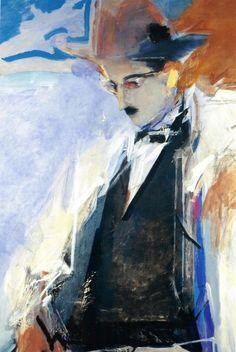 Fernando Pessoa (Portuguese writer) by Julio Pomar Art And Illustration, Figurative Kunst, Mystique, In Vino Veritas, Sculpture, Painting & Drawing, Art Photography, Street Art, Original Paintings