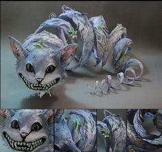 As surreais criaturas híbridas nas esculturas de Ellen Jewett - Gato de Cheshire