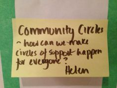 How can we make circles of support happen for everyone?