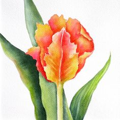 Orange Flame Painting by Deborah Ronglien - Orange Flame Fine Art Prints and Posters for Sale