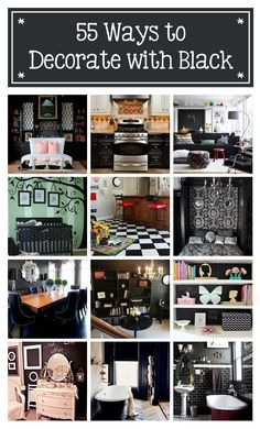 "THIS IS AN INCREDIBLE SITE... THIS IS JUST ONE OF THE ARTICLES.  HOMETALKS IS AMAZING ... ANYTHING TO DO WITH YOUR HOME AND DISCUSSION BOARDS AND ""AND"" OMG... LOVE THIS SITE ... ☞55 ways to decorate with black! IS THIS ARTICLE"