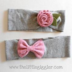 DIY Hair Accessories: DIY Knit Rose Headband {the tutorial}