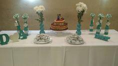 Meu Casamento foi no Civil, fizemos uma pequena mesa para os convidados porem linda ❤ Um mimo