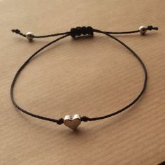 Heart bracelet Friendship bracelet Dainty bracelet Adjustable bracelet Wish bracelet Love bracelet Flower girl bracelet Flower Girl Bracelets, Bracelets Fins, Dainty Bracelets, Wish Bracelets, Cute Jewelry, Diy Jewelry, Beaded Jewelry, Jewelry Making, Handmade Jewelry Bracelets