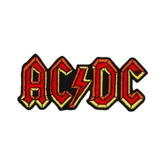 "AC/DC ""ACDC"" Band Name Logo Patch Hard Blues Rock Music Apparel Iron-On Applique by YourPatchStore on Etsy https://www.etsy.com/listing/90879343/acdc-acdc-band-name-logo-patch-hard"