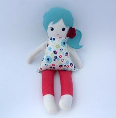 cloth doll rag doll  READY TO SHIP by aprilfoss on Etsy, $48.00