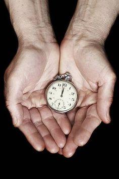 Clock in hands.