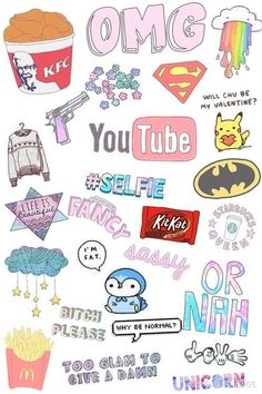 Wallpaper Tutorial and Ideas Tumblr Stickers, Phone Stickers, Cute Stickers, Kawaii Drawings, Cute Drawings, Printable Stickers, Planner Stickers, Tumblr Wallpaper, Iphone Wallpaper