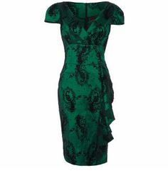 Voodoo Vixen Emerald Peacock Dress - Attitude Clothing, £40.99.