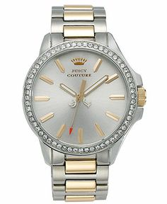 Juicy Couture Watch, Women's Jetsetter Two-Tone Stainless Steel Bracelet 38mm 1901023 - Women's Watches - Jewelry & Watches - Macy's