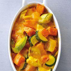 Süßkartoffel-Auflauf #sweetpotato #zucchini #leek (Healthy Recipes Zucchini)
