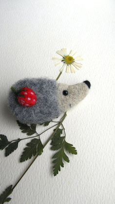 Felted hedgehog brooch.Needle felted brooch.Wool felt brooch.Gift ideas.For her.Animal miniature