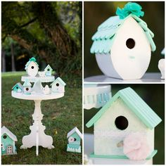 Wedding Wednesday- Shabby chic bird house decor
