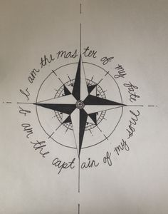 I am the master of my fate. I am the captain of my soul. Inviticus compass