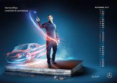Mercedes Benz Calendar After Sales 2017 on Behance Creative Calendar, Ads Creative, Creative Posters, Creative Advertising, Advertising Design, Calendar Design, Graphic Design Tools, Web Design, Facebook Cover Design