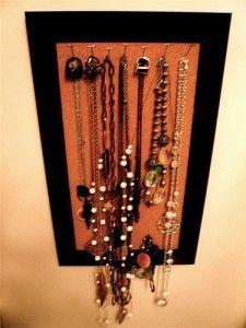 Jewelry Organizer Necklace Holder Jewelry Organizer Wall