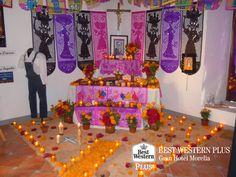EL MEJOR HOTEL DE MORELIA. La celebración de los fieles difuntos en la capital michoacana, es una tradición muy peculiar que debe conocer. En Best Western Plus Gran Hotel Morelia, le invitamos a hospedarse con nosotros del 29 de octubre al 2 de noviembre para que disfrute nuestro plan vacacional Noche de Muertos. Para mayor información, le invitamos a comunicarse al  número telefónico (443)3228000. #bestwesternmorelia