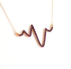 Heartbeat necklace!