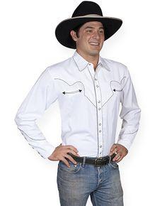 Vaquero+Western+Shirt+-+White