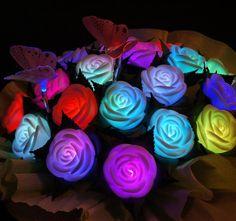 Holiday Wedding Led Rose Flower Light Led Illumination Roses Love Lamp Led Wishing Lights Flower Night Light Party Decor Lamp Online with $1.42/Piece on Ok360's Store   DHgate.com