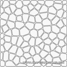 Voronoi 2D pattern (with rounded corners and offset)