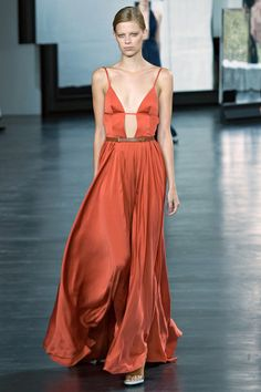 The 50 Best Red Carpet Looks from the Spring 2015 Collections – Vogue - Jason Wu He dresses everyone from actresses to First Ladies, but we think this rusty coral dress would be best suited for actress Dakota Johnson.