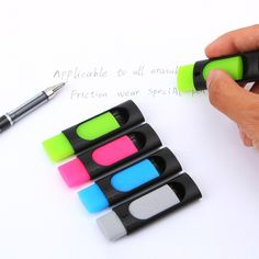 Ink Eraser Friction For Erasable Pen Rubber Pencil Stationery Office School Supplies. Middle School Supplies, School Tool, Stationery Store, School Stationery, Cute Notebooks, Pencil Eraser, Personalized Notebook, School Essentials, Aliexpress