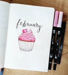 February Cover Page Cupcake