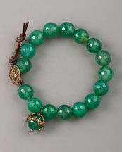 Y0SHD Love Heals Faceted Green Agate Bracelet! Fall's new hot color!!