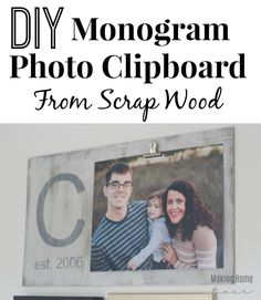 This is such a great alternative to a picture frame! And who doesn't love a cute monogram!? | Making Home Base