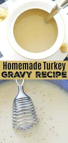 This homemade turkey gravy recipe explains how to make fool-proof gravy from either roasted turkey drippings or canned broth. Chicken Gravy From Scratch, Homemade Chicken Gravy, Easy Homemade Gravy, Best Turkey Gravy, Making Turkey Gravy, Turkey Gravy From Drippings, Easy Thanksgiving Recipes, Holiday Recipes, Holiday Meals